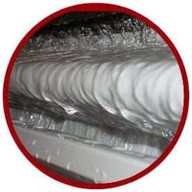 gutter guard system capturing water