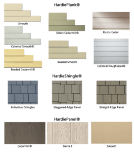 Chart of Siding Types