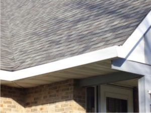 Front view of the gutter