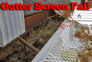 gutter screen do not work