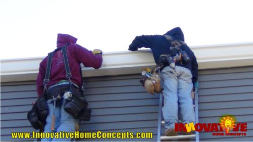 Installing an 8 inch industrial gutter