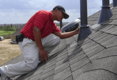 Professional roof inspection