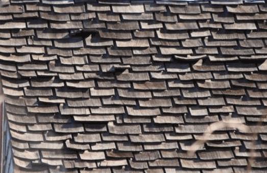failed wood roof