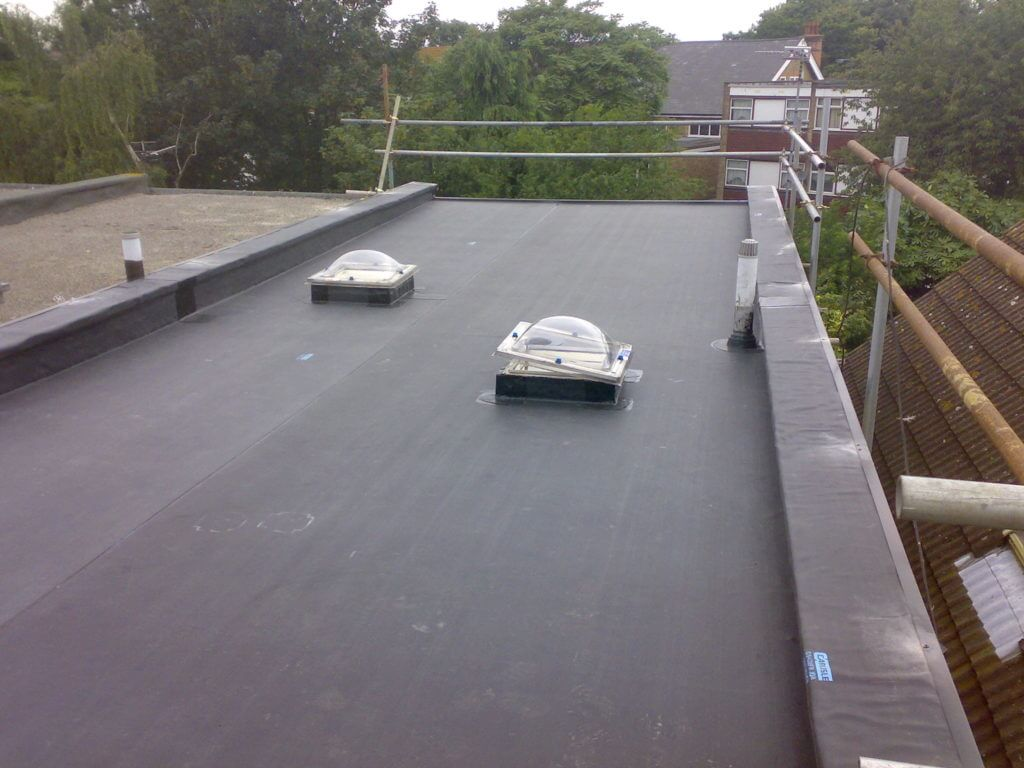 Flat Commercial Roofing Contractor Company Chicago