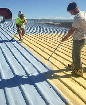 spraying roof to change color
