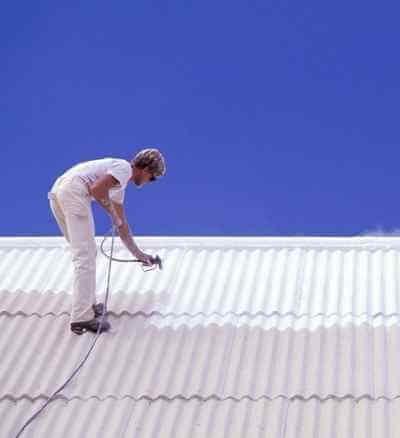 metal roof restoration in progress