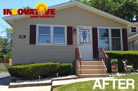 after pic of vinyl siding installation in Round Lake