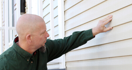 aluminum siding hail damage inspector