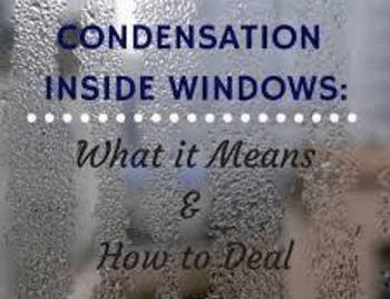 window with condensation on inside