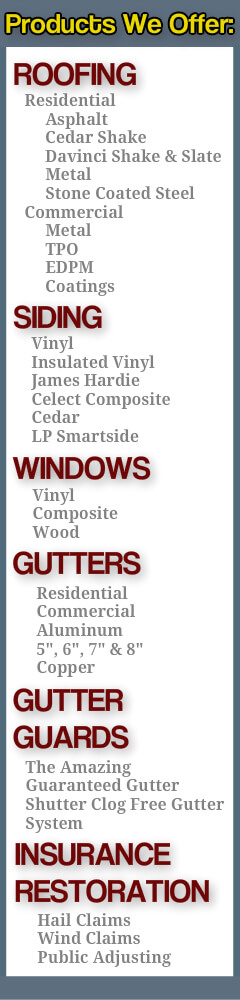 roofing, siding, windows, gutters, leafguards, chicago service