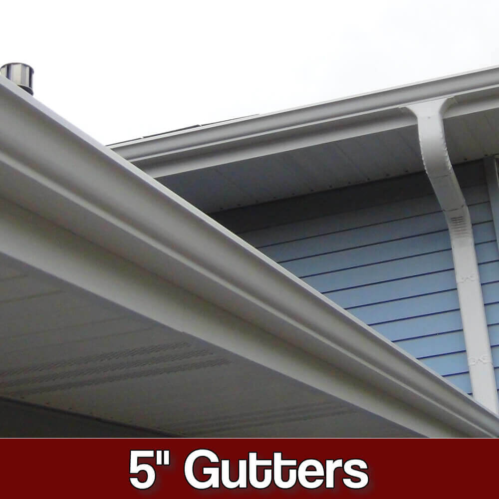 gutter company showing off its work