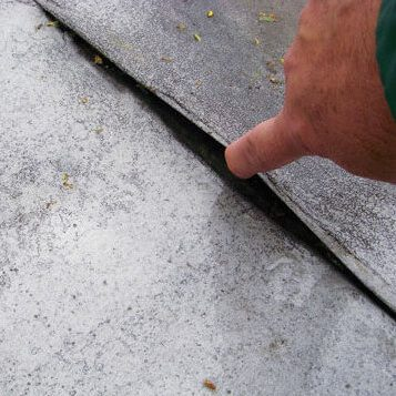 Roof Inspection discovers issue with roof-potential leak