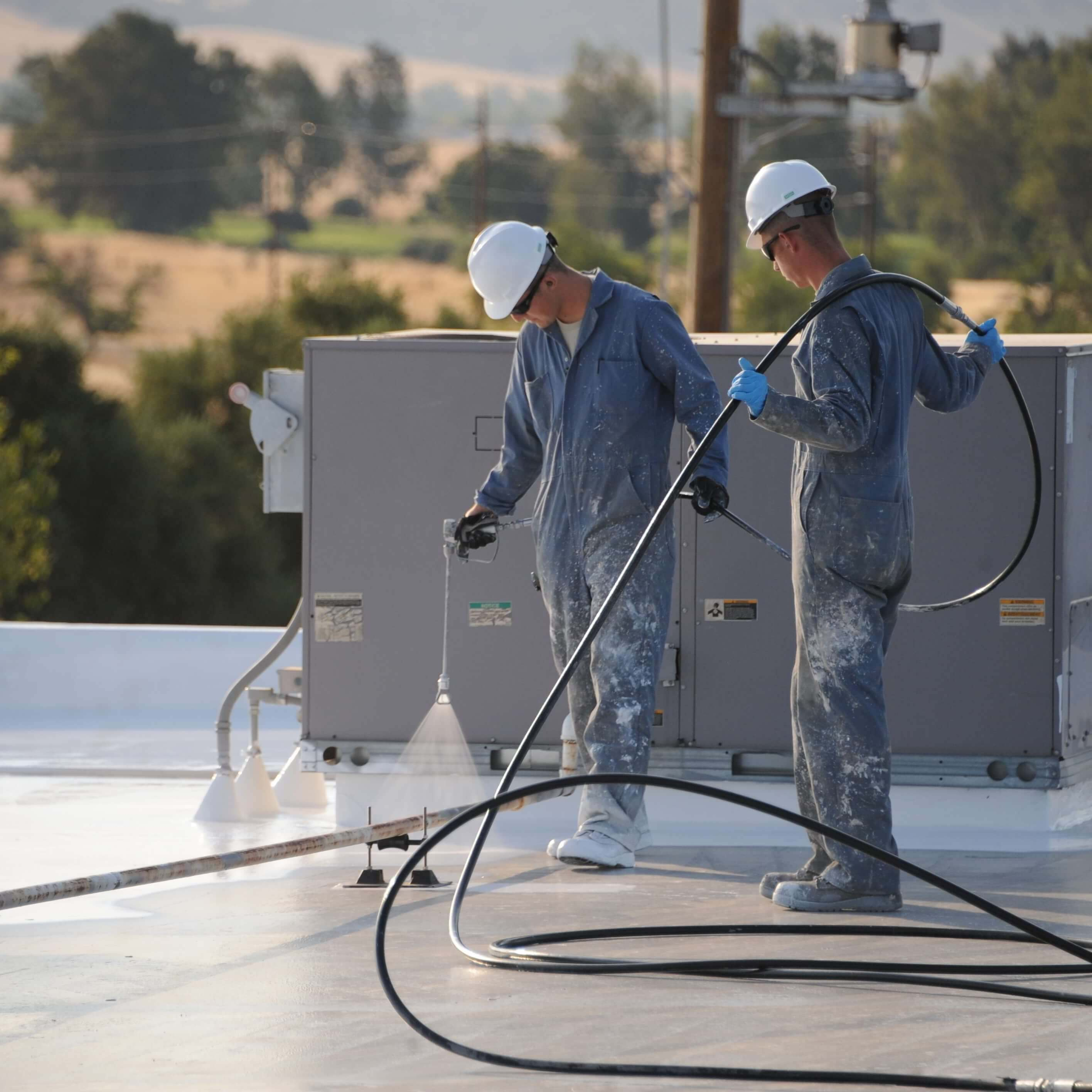 repair roofs with roof coating systems